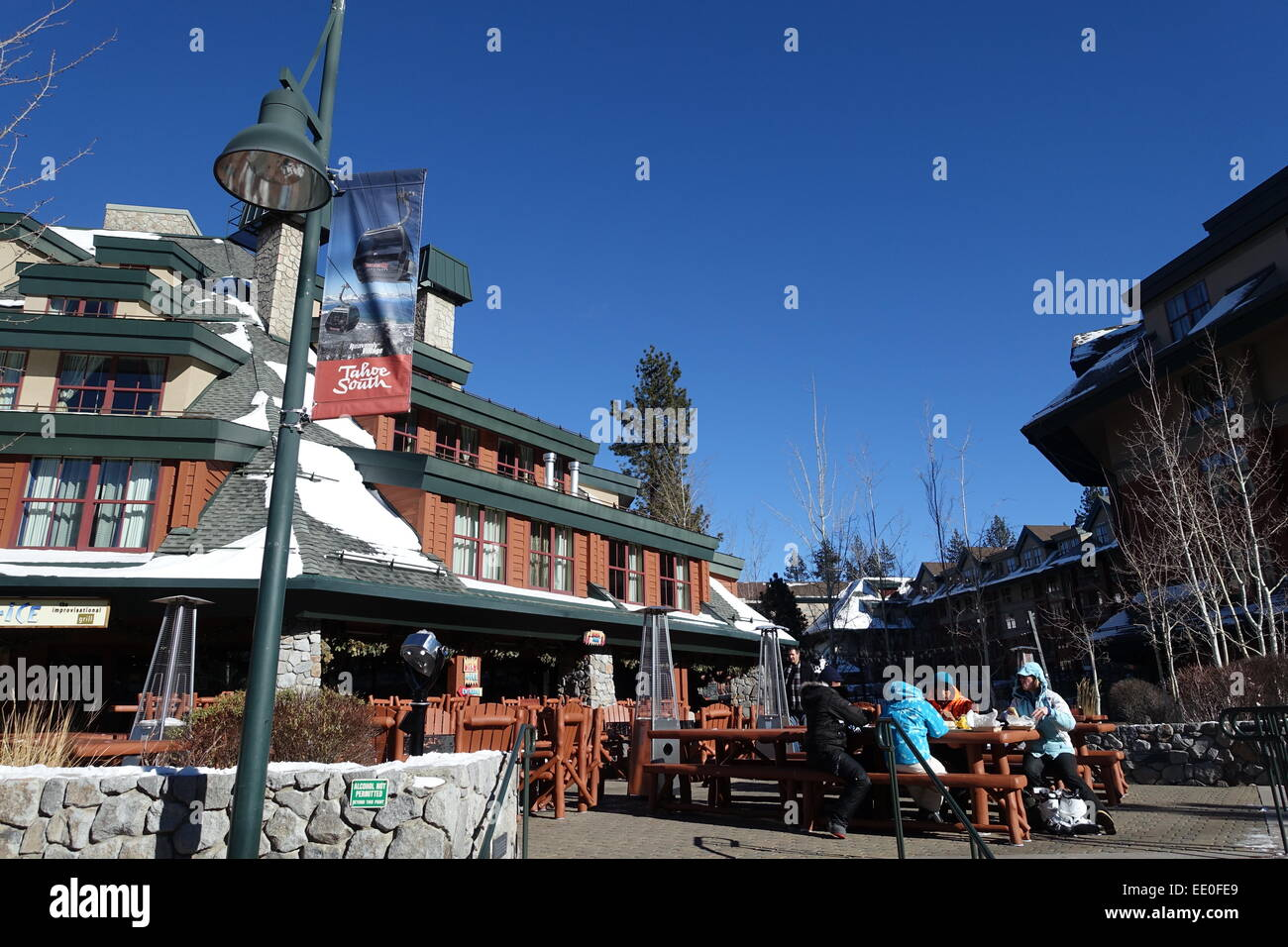 south tahoe ski resort stock photos & south tahoe ski resort stock