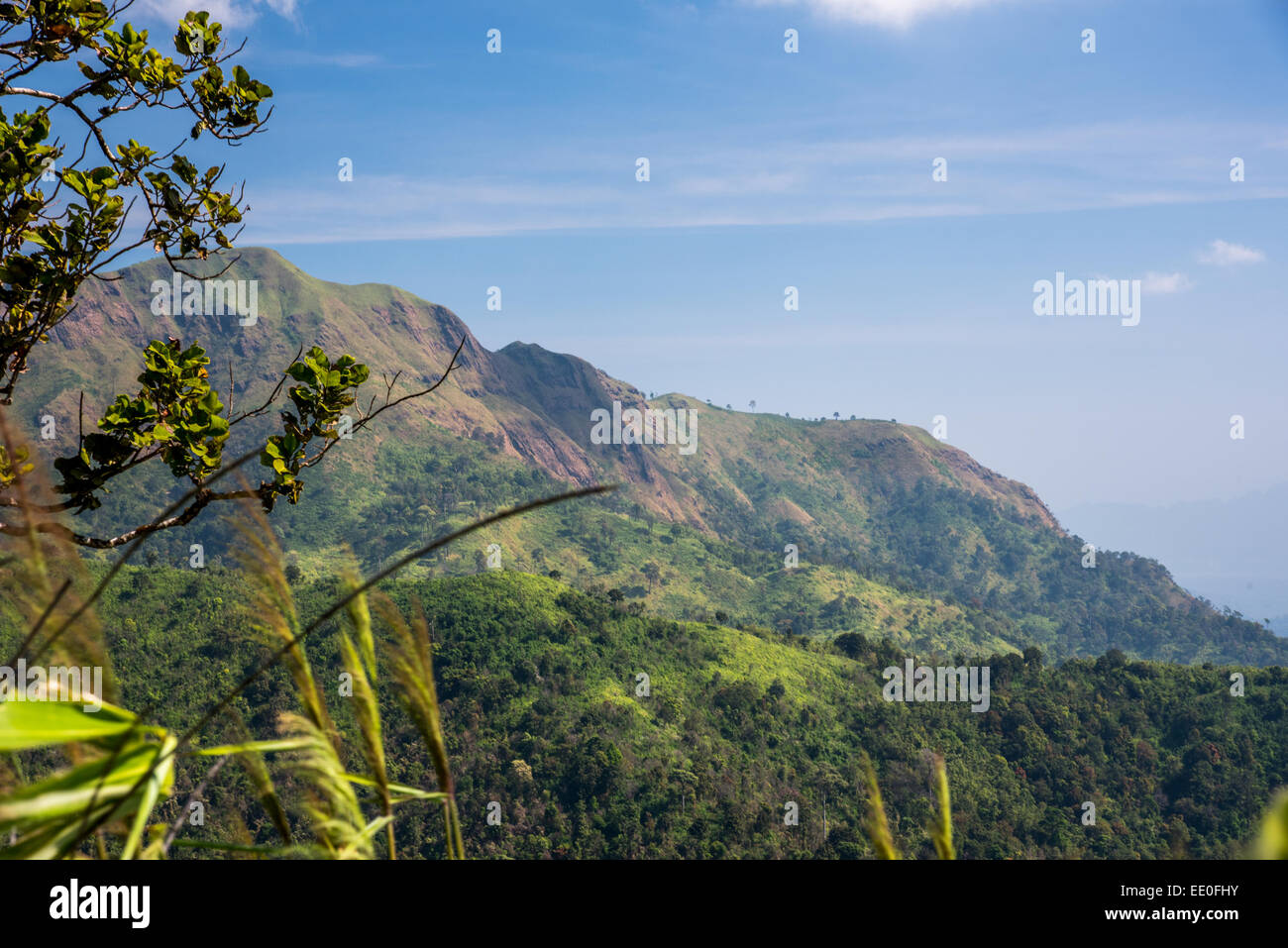 The long mountain - Stock Image