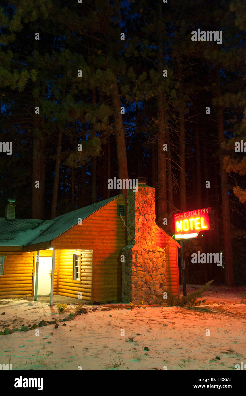 Remarkable Usa California Ca South Lake Tahoe Winter Cabin Motel With Download Free Architecture Designs Scobabritishbridgeorg