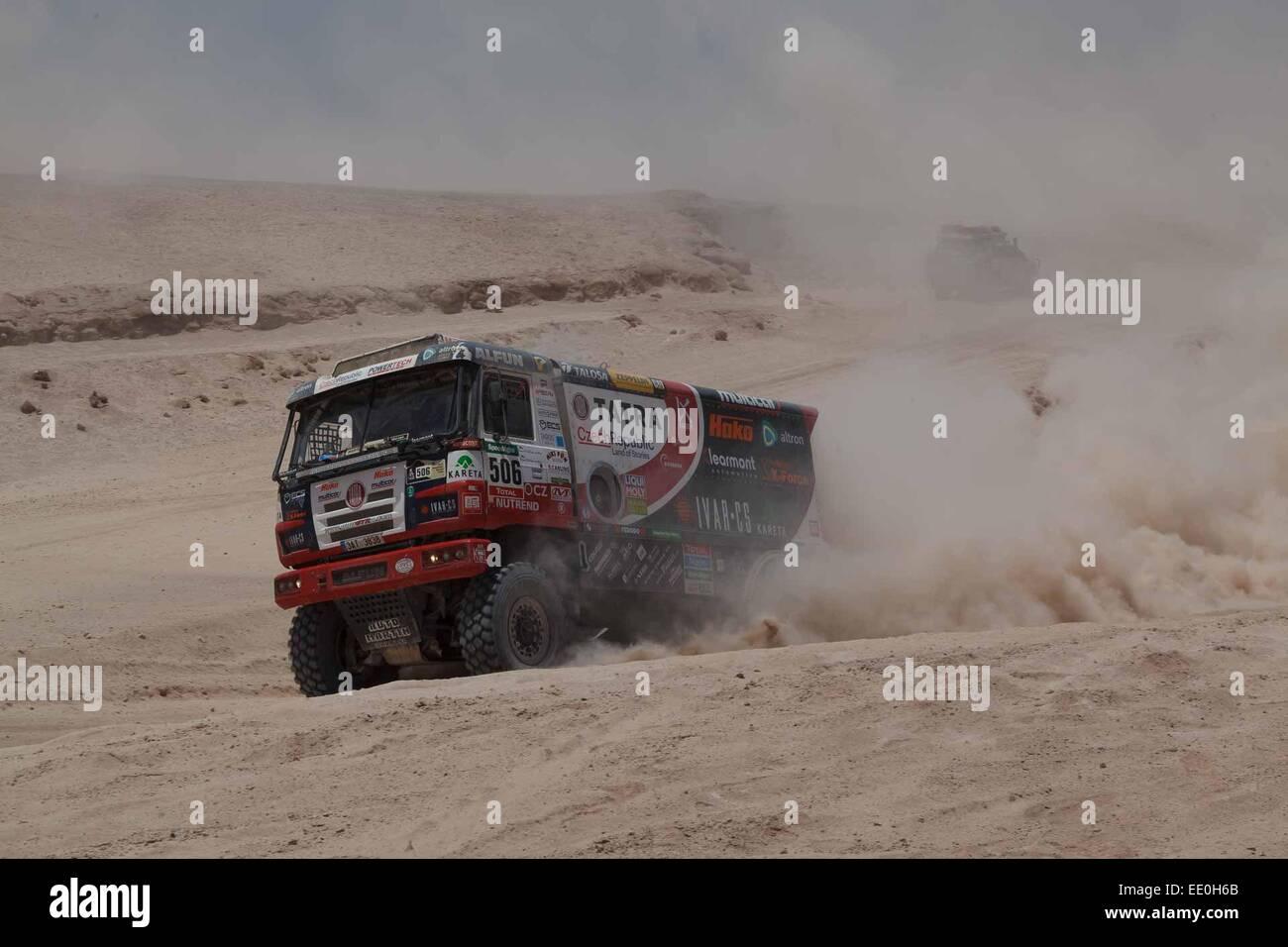 Martin Kolomy 506 Cze Stage 6 Dakar Rally Antofagasta Stock