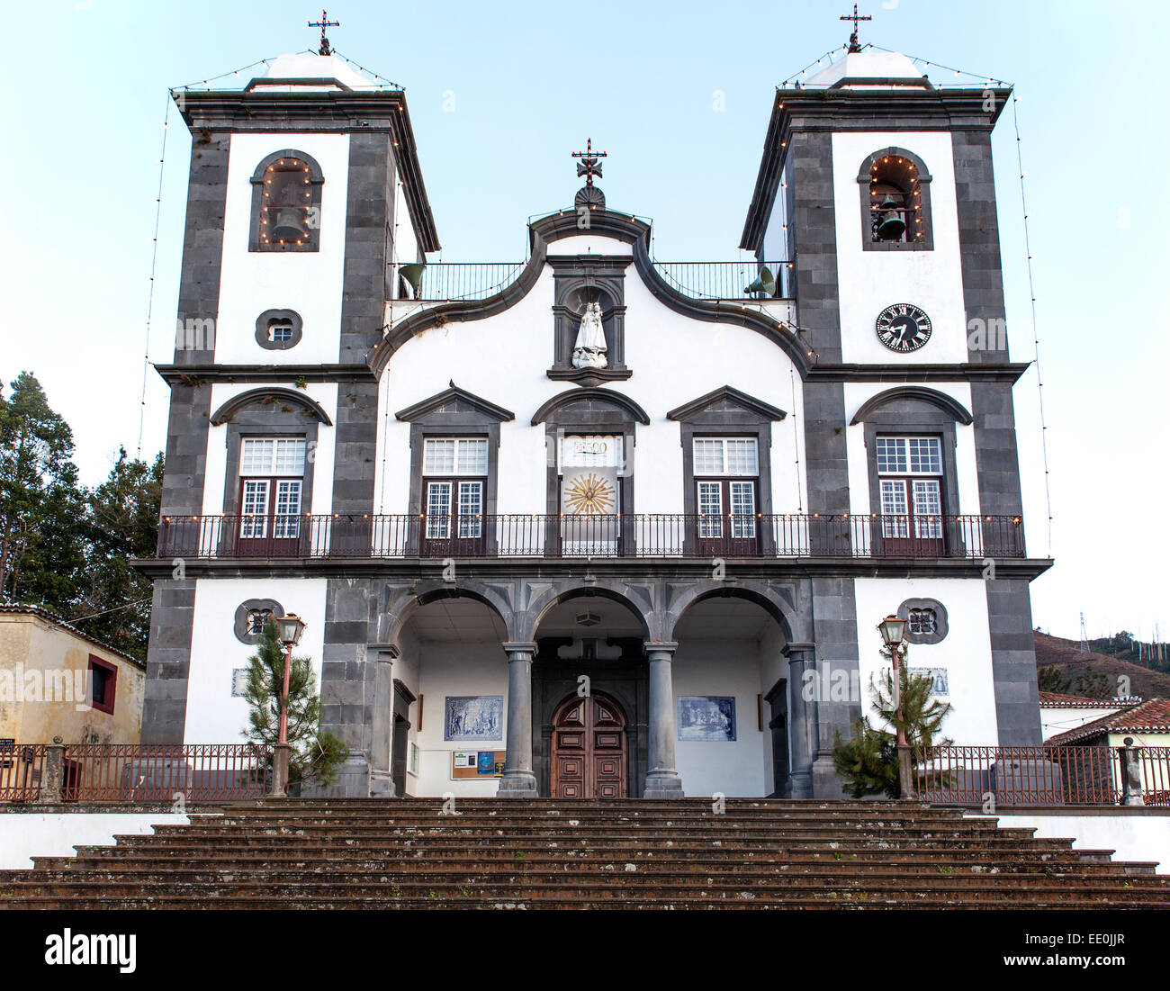 Nossa Senhora do Monte church, Monte, above Funchal, - Stock Image