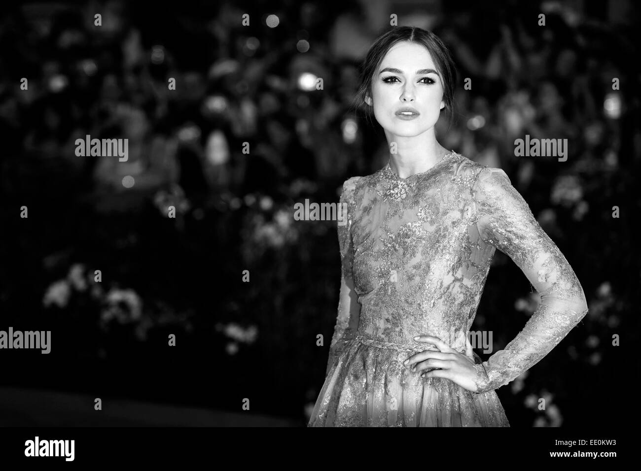 VENICE, ITALY - SEPTEMBER 02: Actress Keira Knightley attends the 'A Dangerous Method' premiere during the - Stock Image