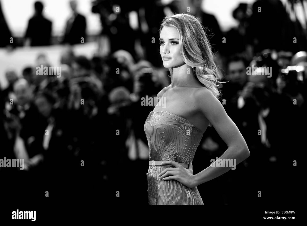 CANNES, FRANCE - MAY 21: Rosie Huntington-Whiteley attends the 'The Search' Premiere during the 67th Cannes - Stock Image