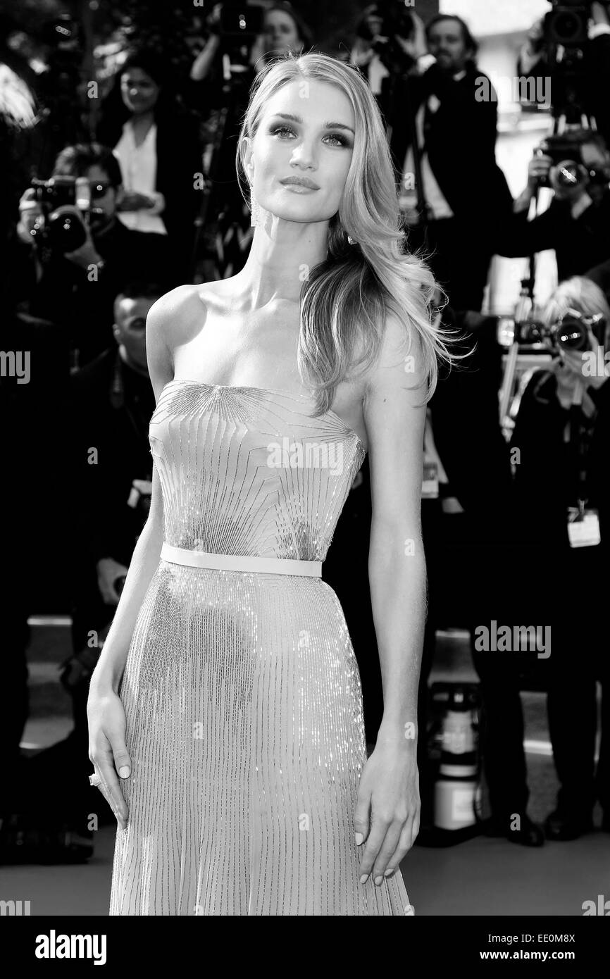 CANNES, FRANCE - MAY 21: Rosie Huntington-Whiteley attends the 'The Search' Premiere during the 67th Cannes Film Stock Photo