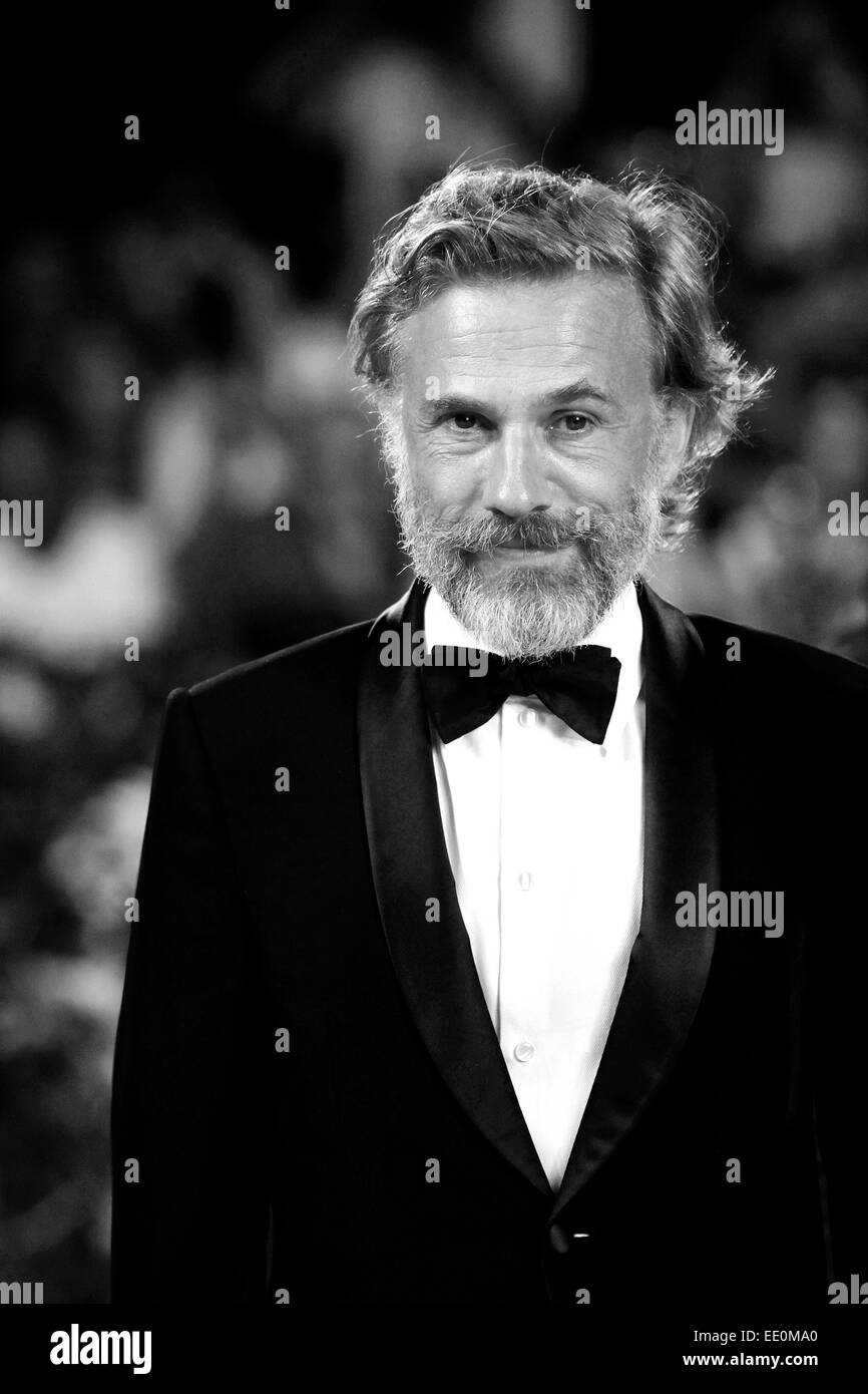 VENICE, ITALY - SEPTEMBER 01: Actor Christoph Waltz attends the 'Carnage' premiere during the 68th Venice - Stock Image