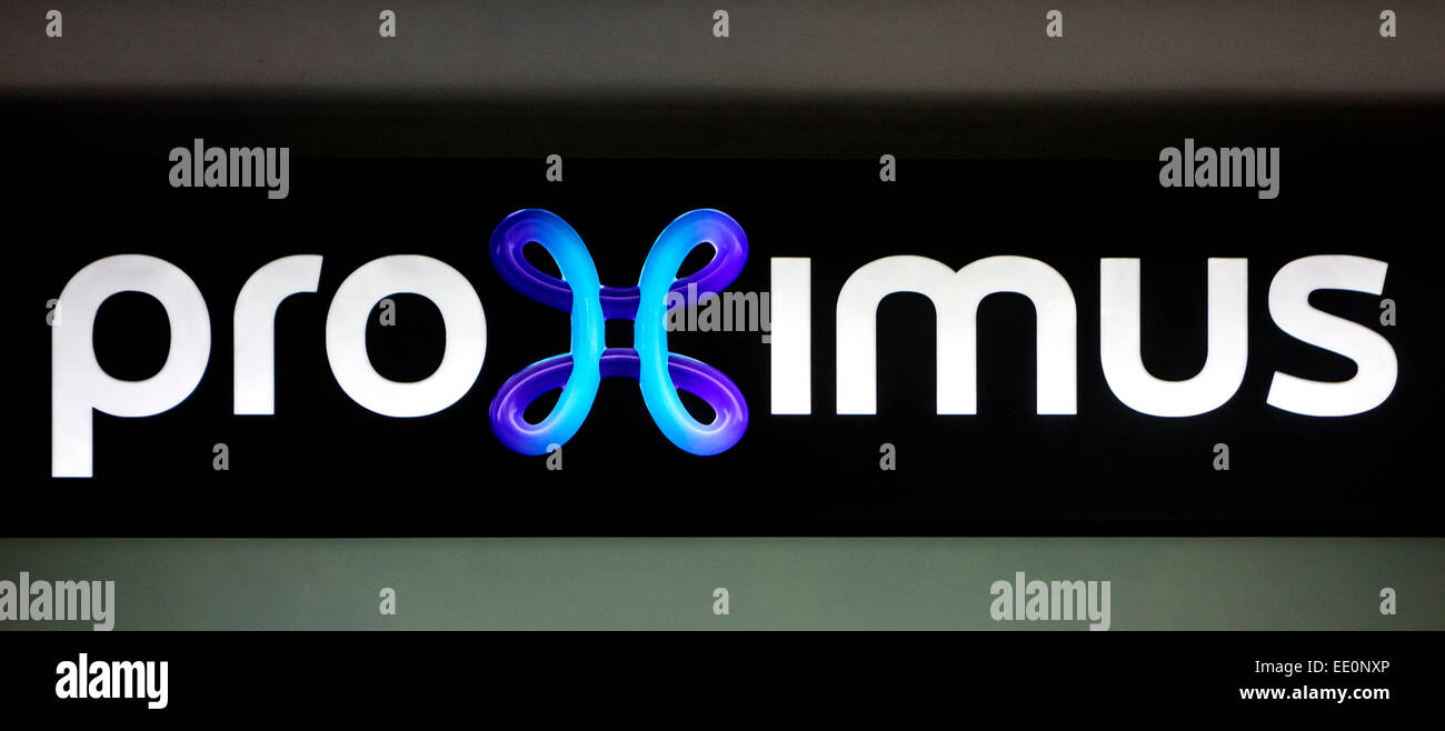 Logo of the Belgian mobile telephony provider Proximus - Stock Image