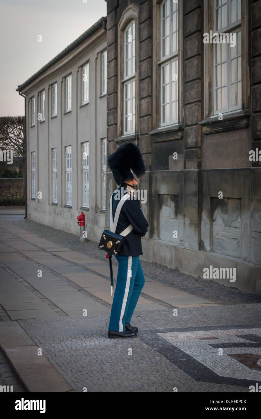 Amalienborg, The Queen's Winter Residence. Copenhagen, Denmark Stock Photo