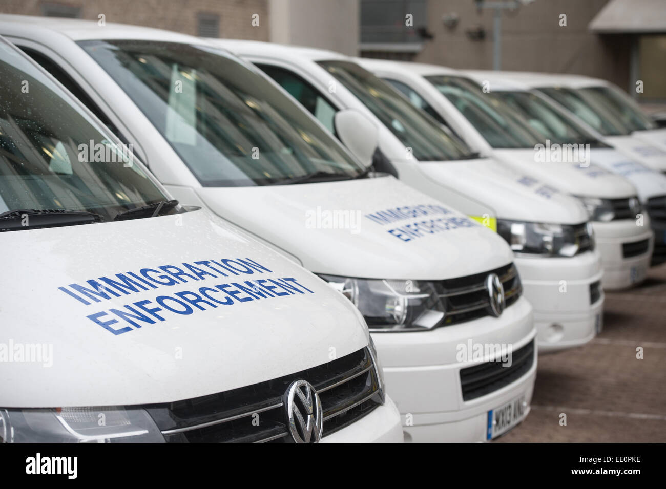 Immigration enforcement vans stand parked in at Home Office Stock ...
