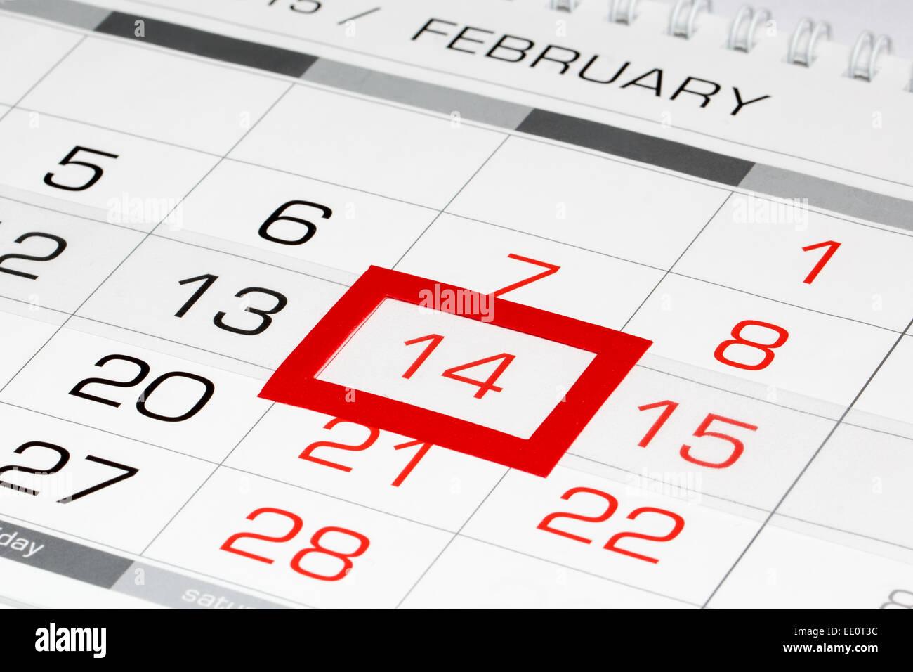 february calendar page
