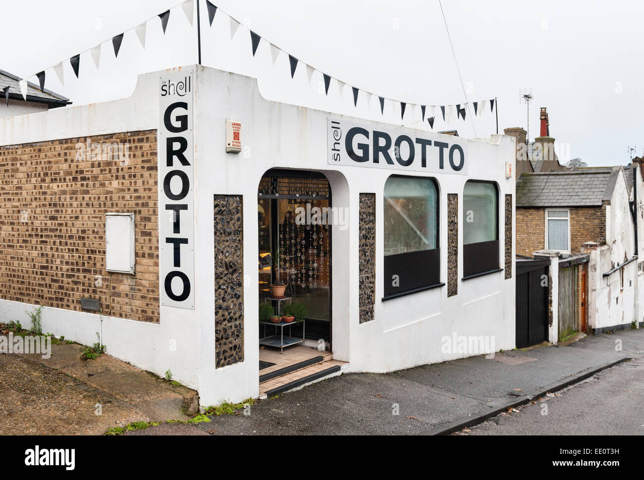 Margate, Kent. Entrance to the subterranean Shell Grotto, discovered in 1835. Stock Photo