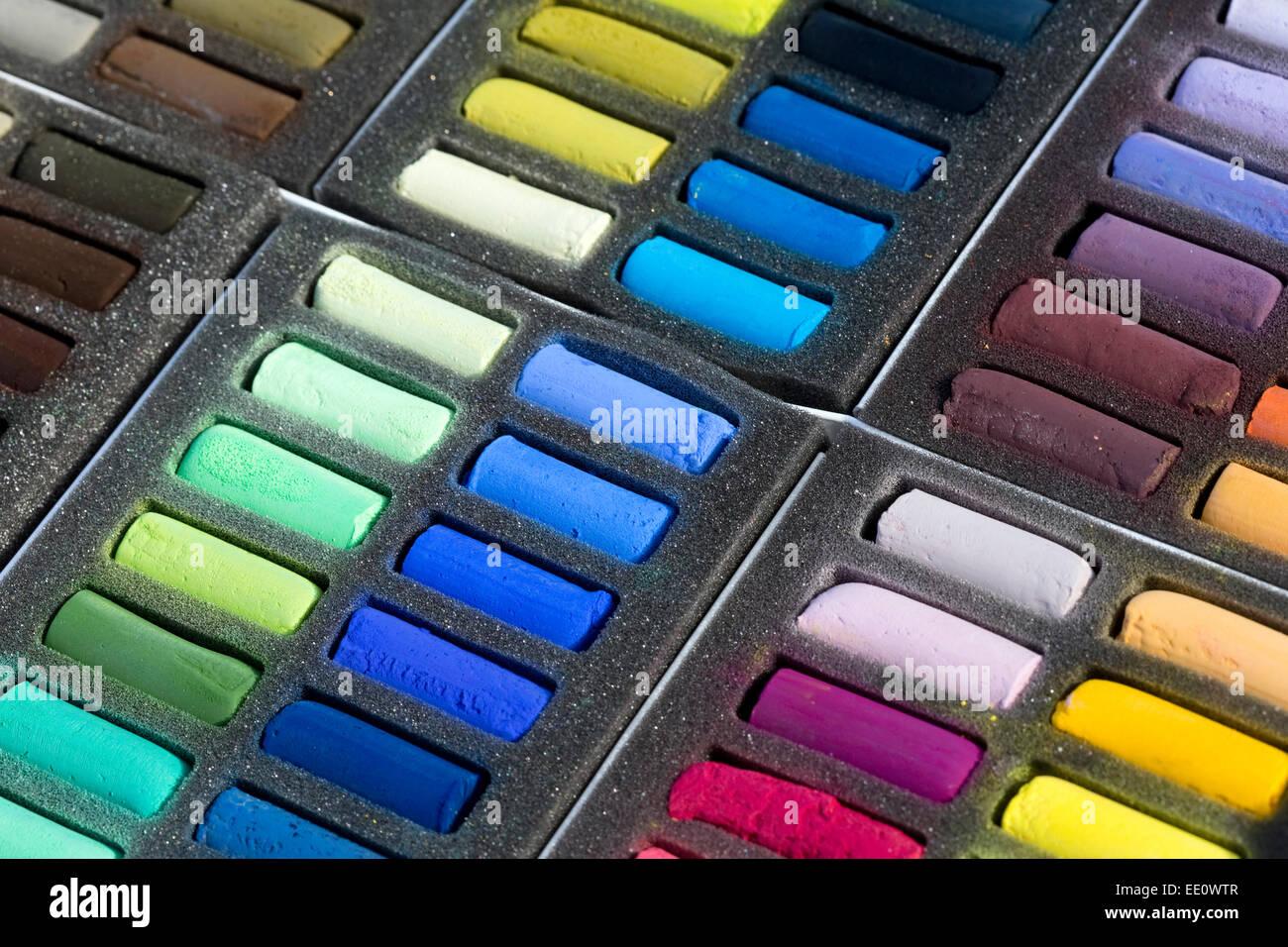 Chalk Pastel Set - Stock Image