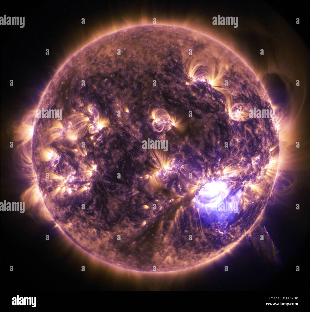 X1.8-Class Solar Flare, seen from space Dec. 19, 2014 - Stock Image