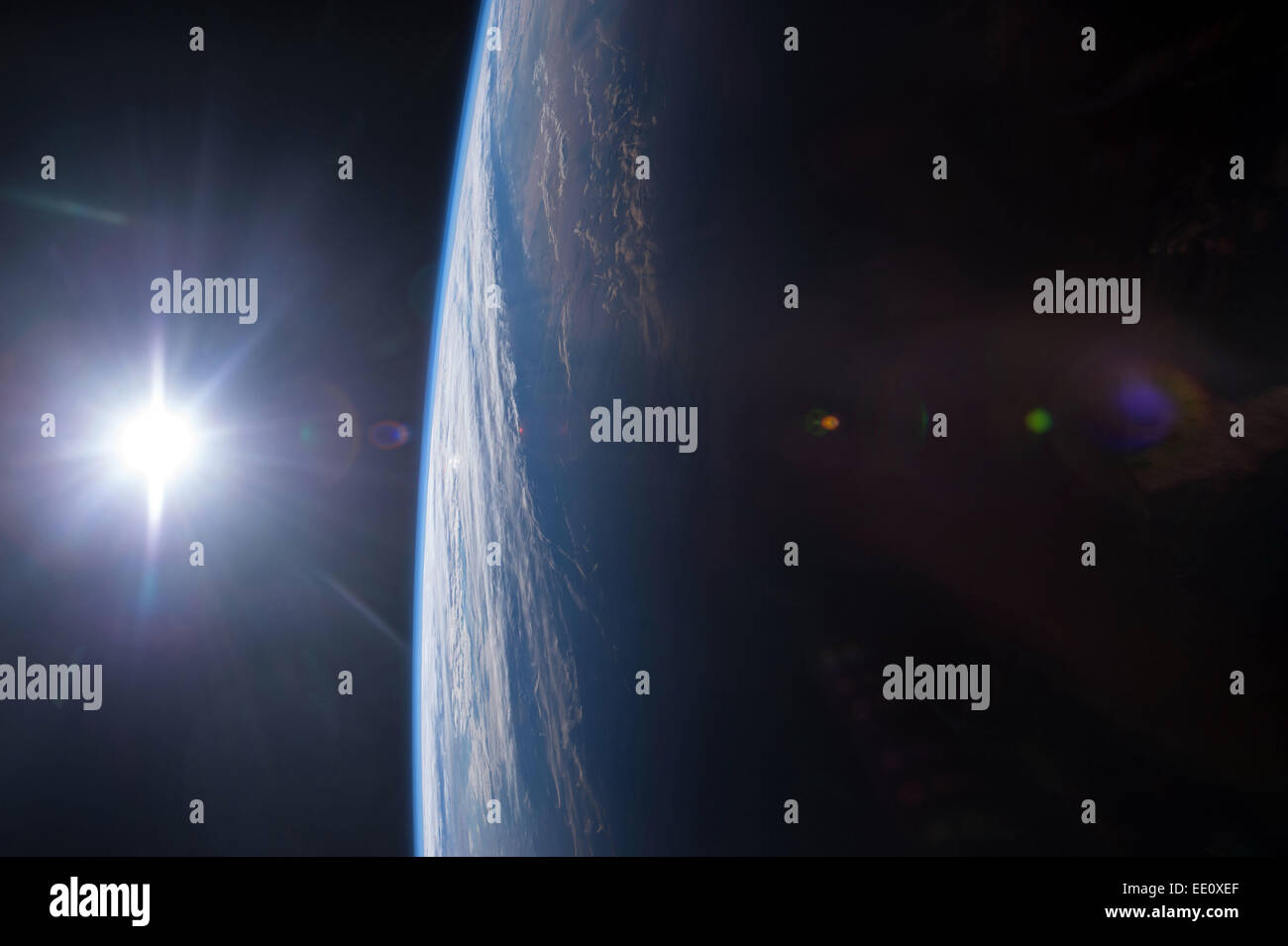 Sunrise seen from Space - Stock Image