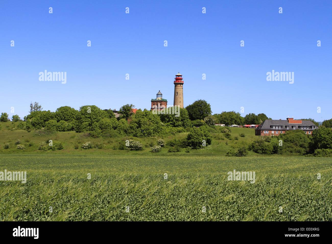 Deutschland, Mecklenburg-Vorpommern, Insel Ruegen, Kap Arkona, Leuchttuerme - Stock Image