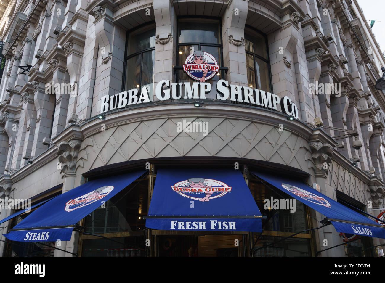 The new Bubba Gump Shrimp Co restaurant in London - Stock Image