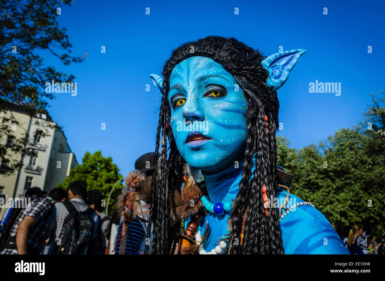 Annual street parade 'Carnival of Cultures' through Kreuzberg, Berlin, Germany - Stock Image