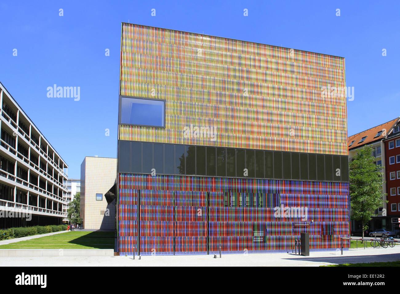 36, 000 einzelne Keramikflächen, Architektenbüro Sauerbruch Hutton, Architektur, Aussenfassade, Bayern, - Stock Image