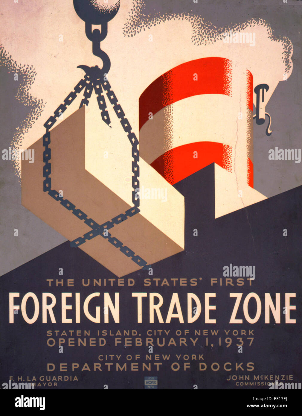 The United States' first foreign trade zone, Staten Island