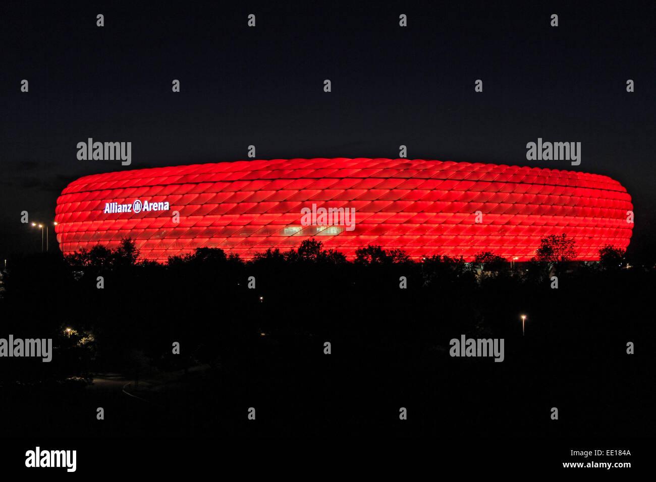 Deutschland, München, Fussballstadion, Allianz Arena, , erbaut 2002-2005, Architekten, Herzog und de Meuron, - Stock Image
