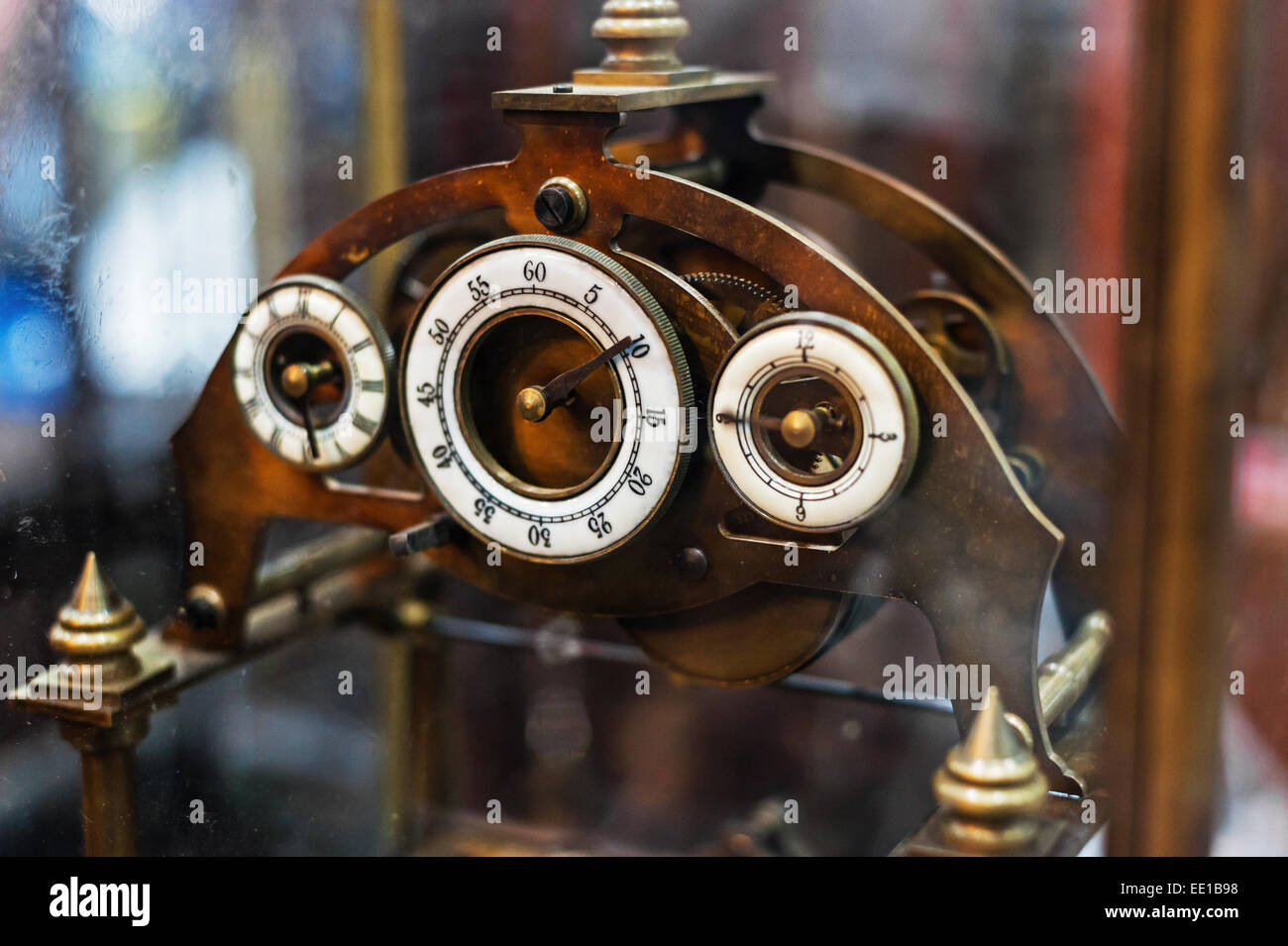 An Antique Clock old time passing . Stock Photo