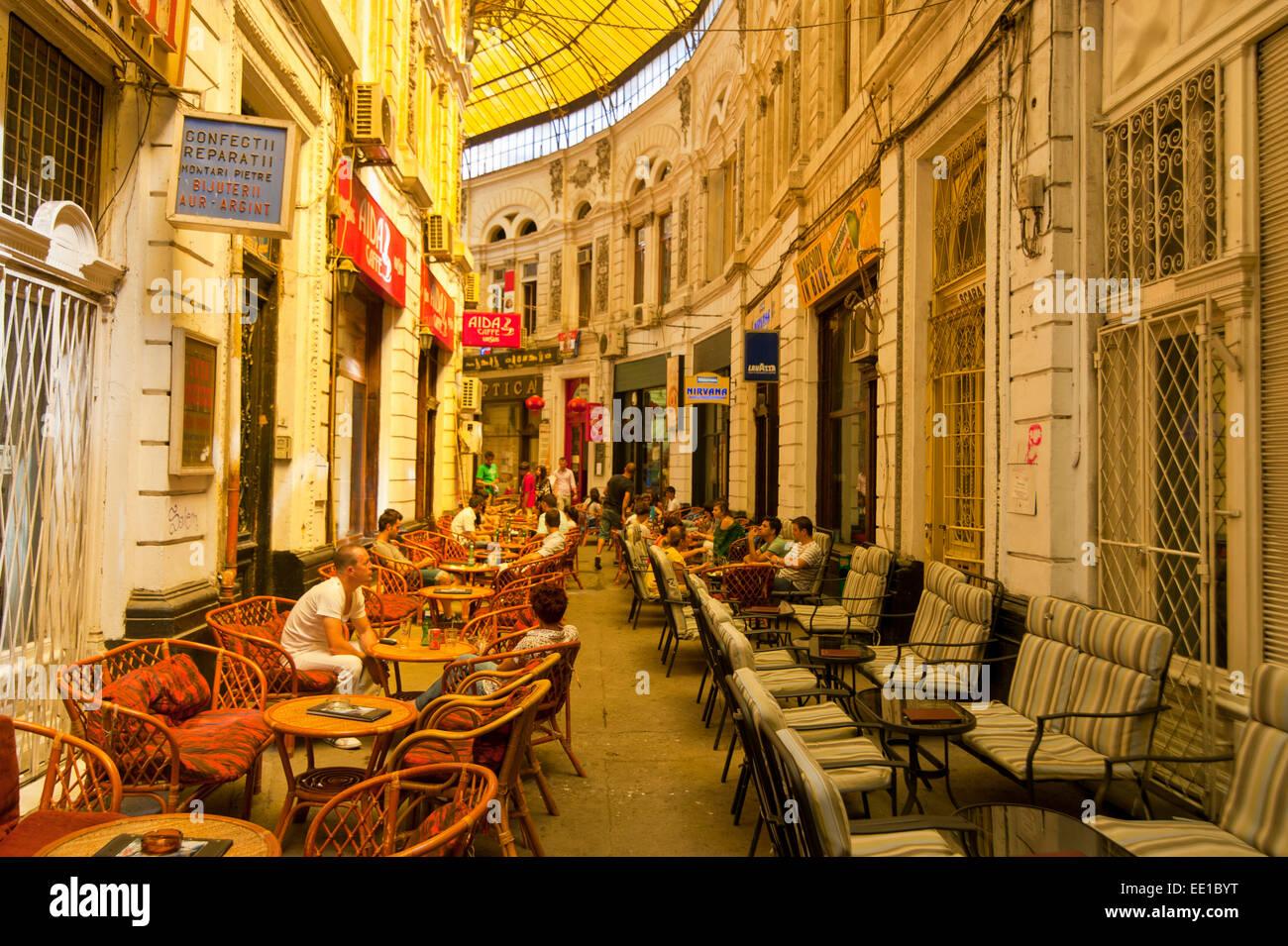 Pasajul Macca-Vilacrosse arcade, Bucharest, Romania - Stock Image