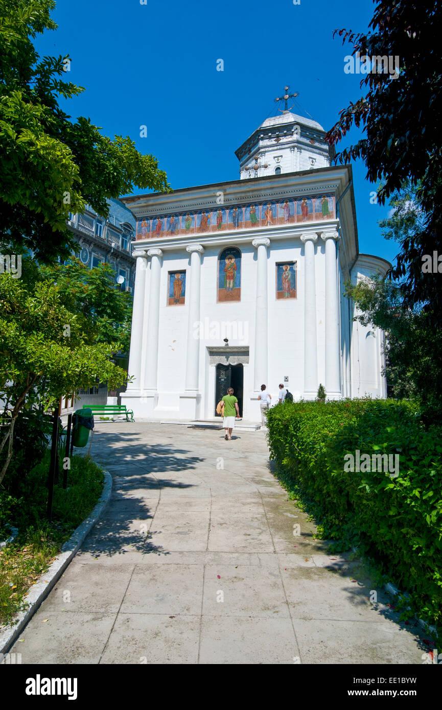 Church Biserica Sf. Dumitru, Bucharest, Romania - Stock Image