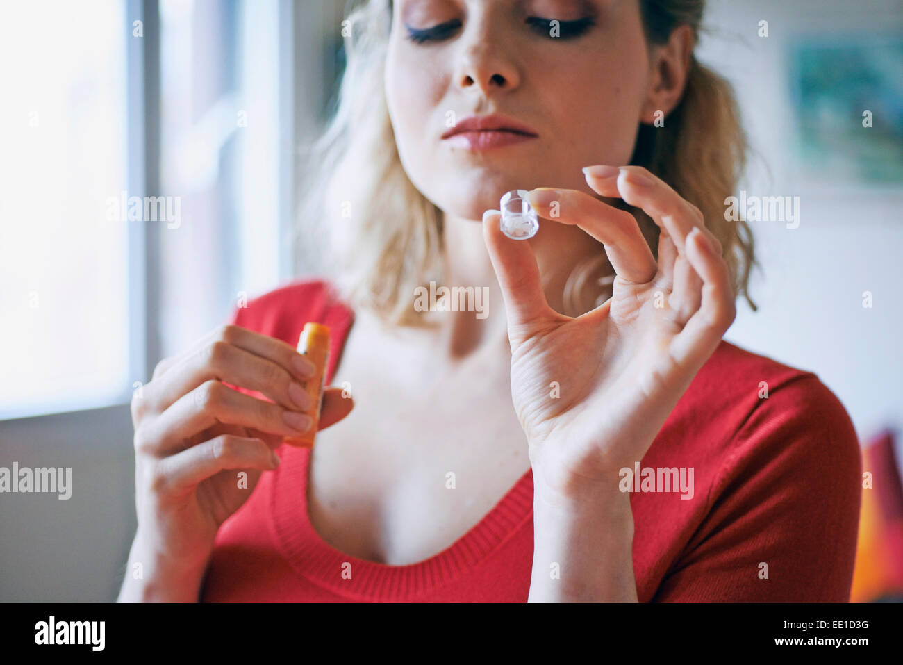 HOMEOPATHY, WOMAN - Stock Image