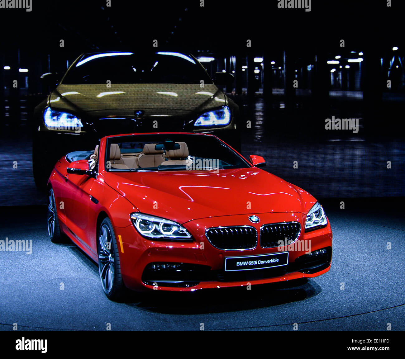 2015 North American International Auto Show Stock Photos