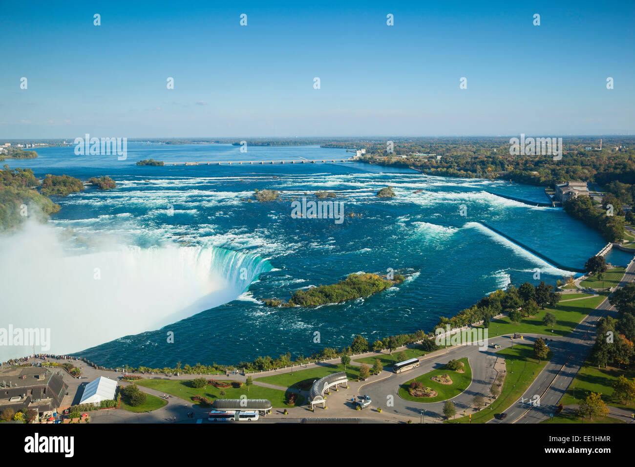 View of Horseshoe Falls, Niagara Falls, Niagara, border of New York State, and Ontario, Canada, North America - Stock Image