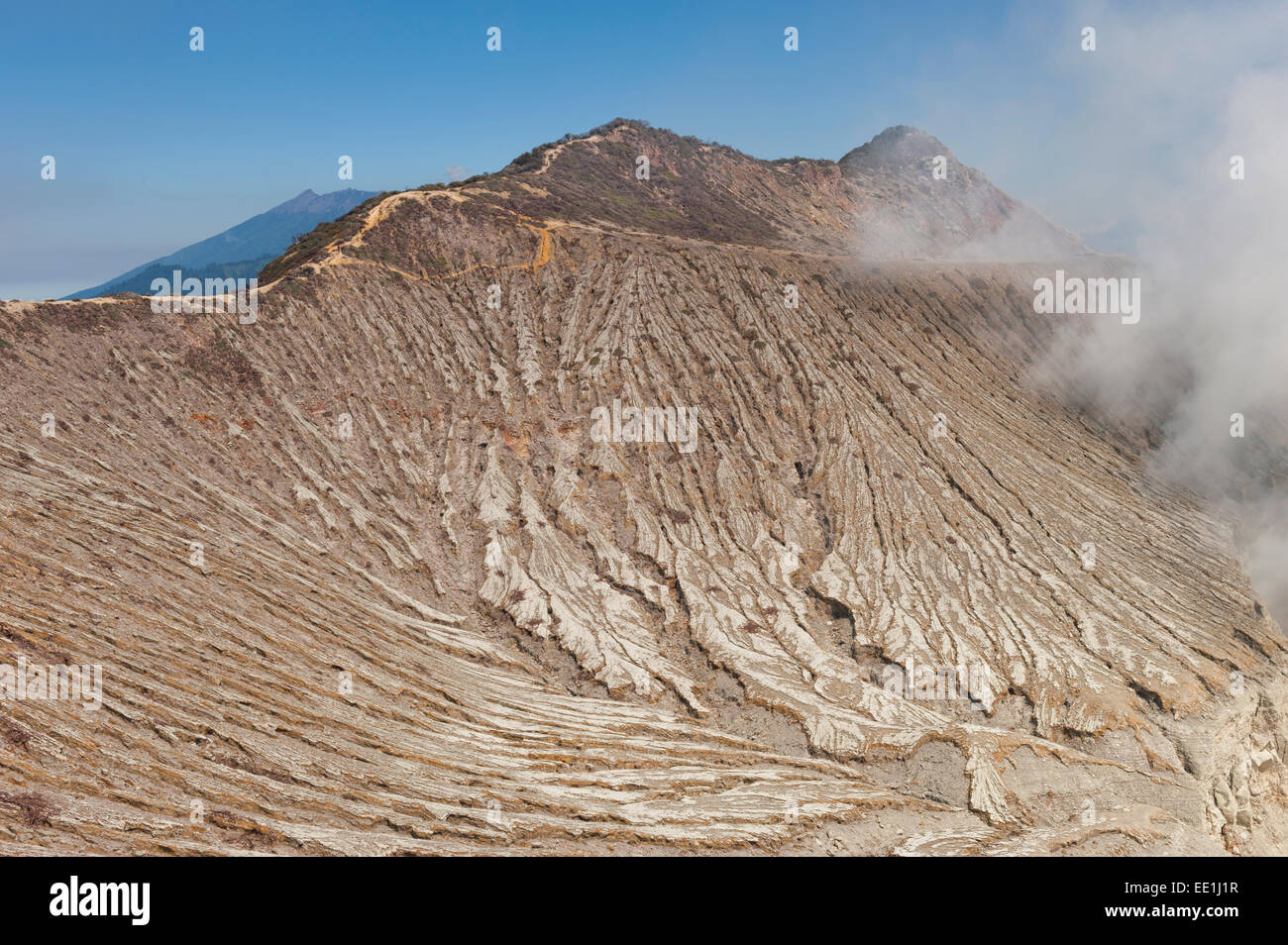 Kawah Ijen volcano slope (Ijen crater), Banyuwangi, East Java, Indonesia, Southeast Asia, Asia - Stock Image
