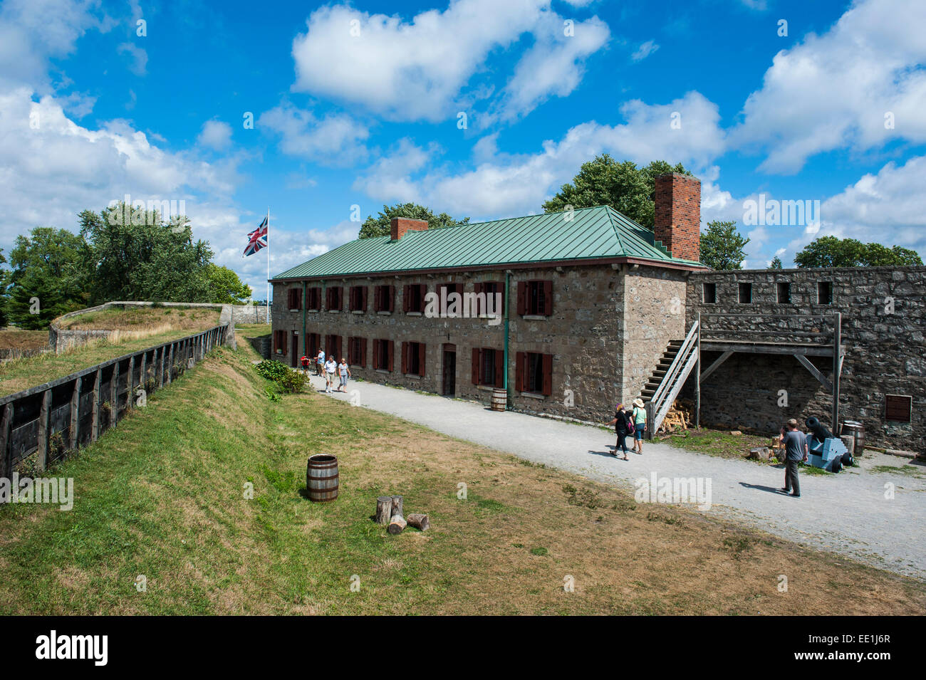 Old Fort Erie on the Niagara River, Ontario, Canada, North America - Stock Image