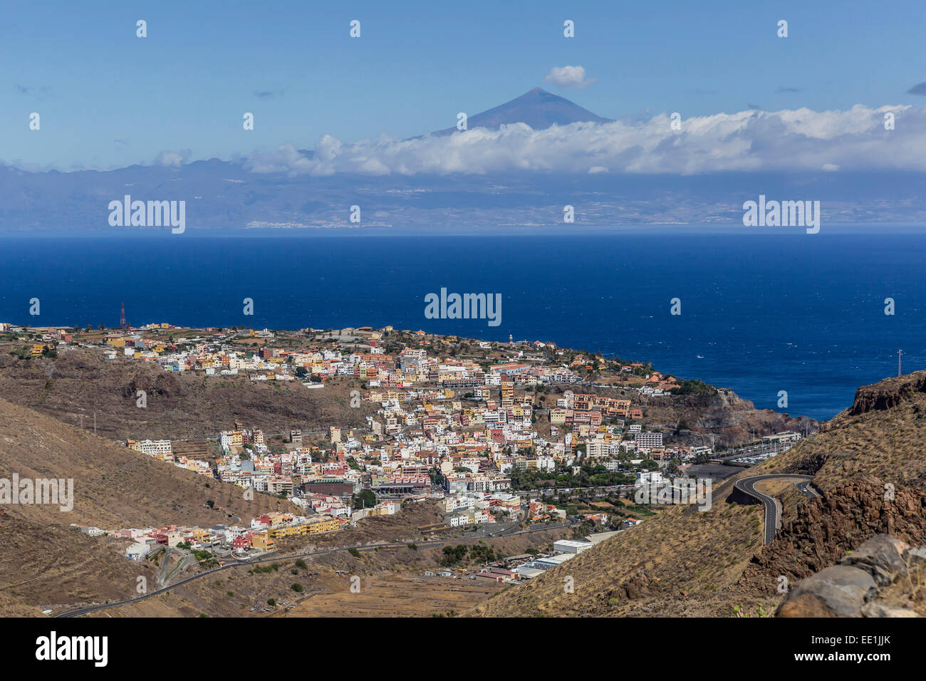 A view of the island of La Gomera, the second smallest island in the Canary Islands, Spain, Atlantic, Europe - Stock Image