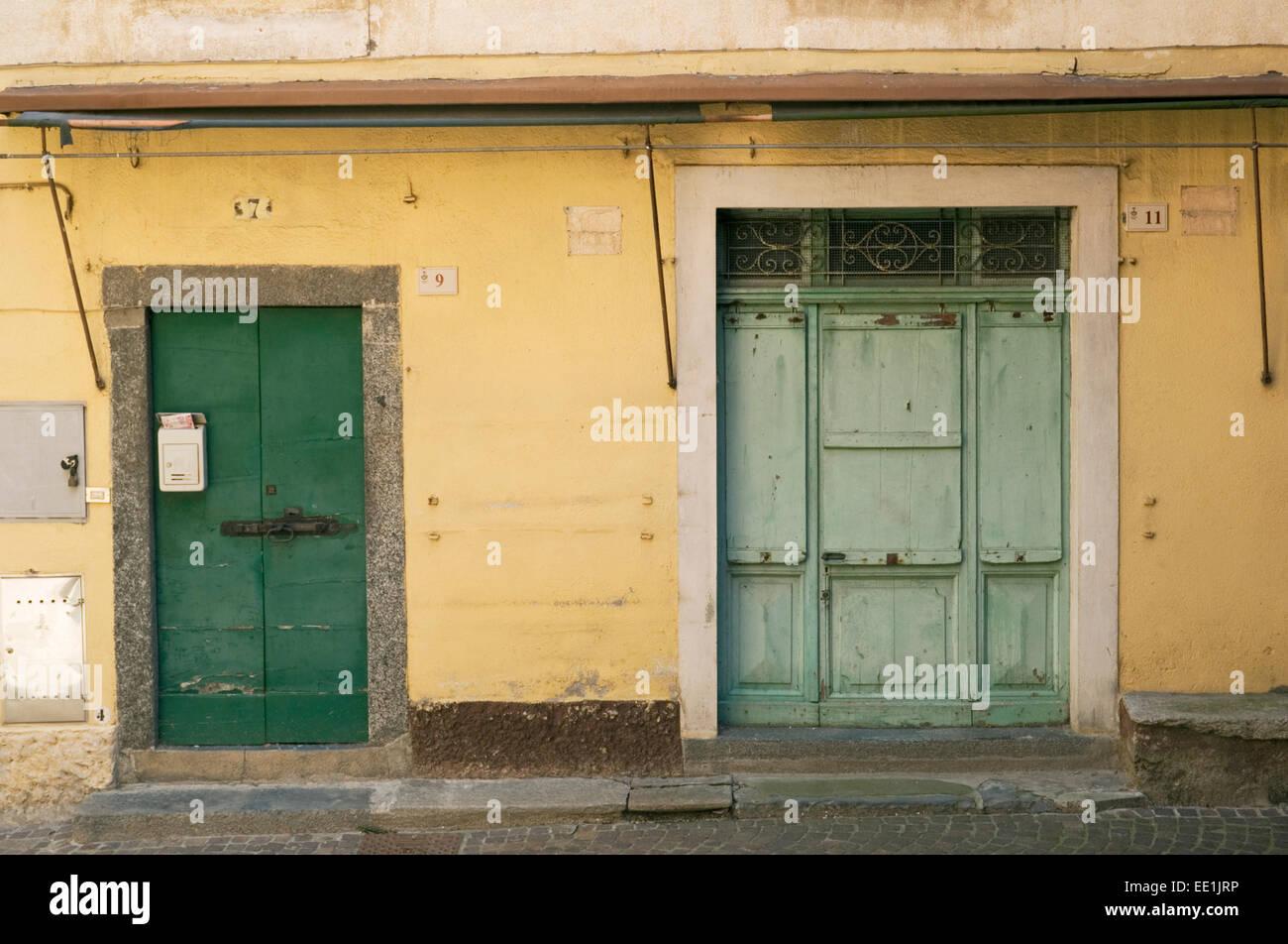 Abandoned edifice, Italy - Stock Image