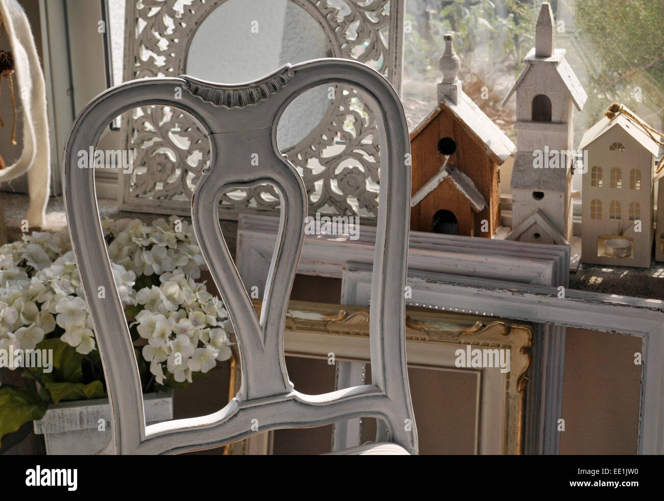 Shabby chic interior - Stock Image