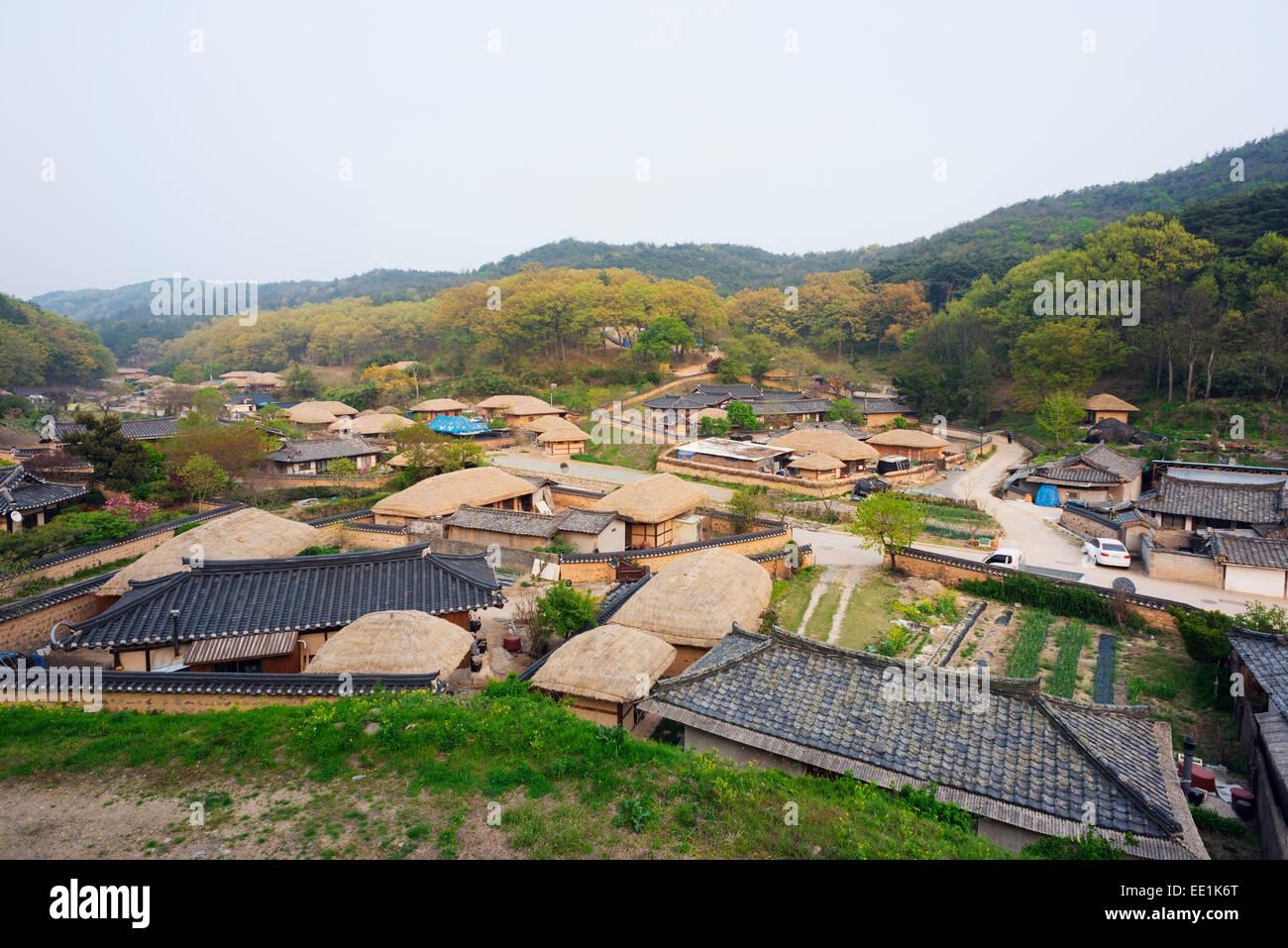 Yangdong folk village, UNESCO World Heritage Site, Gyeongsangbuk-do, South Korea, Asia - Stock Image