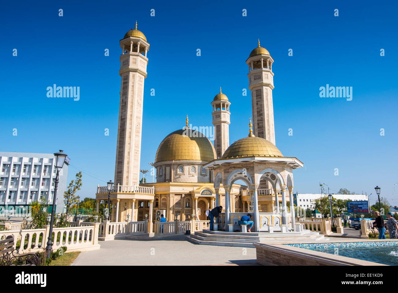 Yusuf Sakkazova Mosque. situated near Grozny Airport, Grozny, Chechnya, Caucasus, Russia, Europe - Stock Image