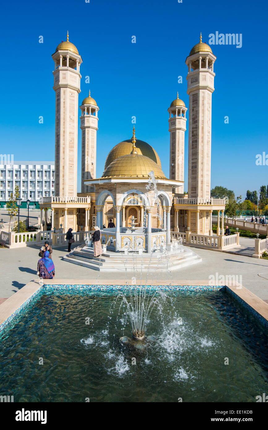 Yusuf Sakkazova Mosque, situated near Grozny Airport, Grozny, Chechnya, Caucasus, Russia, Europe - Stock Image