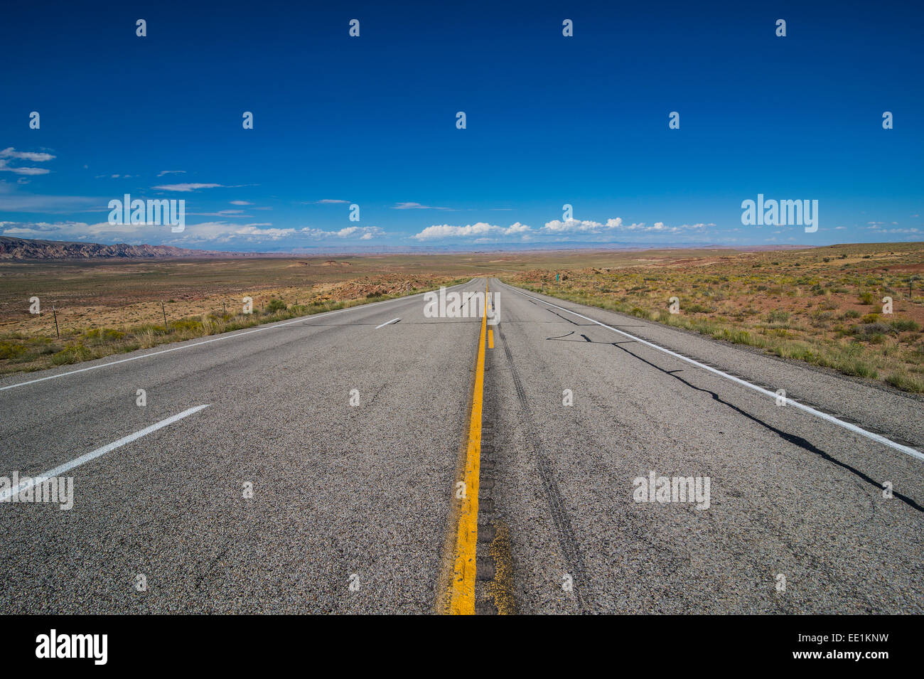 Road leading through the Grand Staircase Escalante National Monument, Utah, United States of America, North America Stock Photo