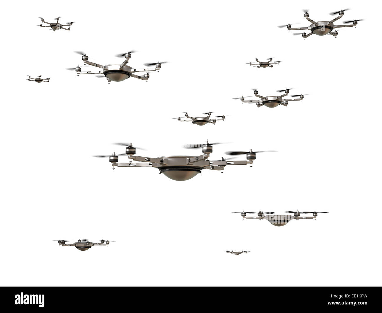 3d image of futuristic delivery drone - Stock Image