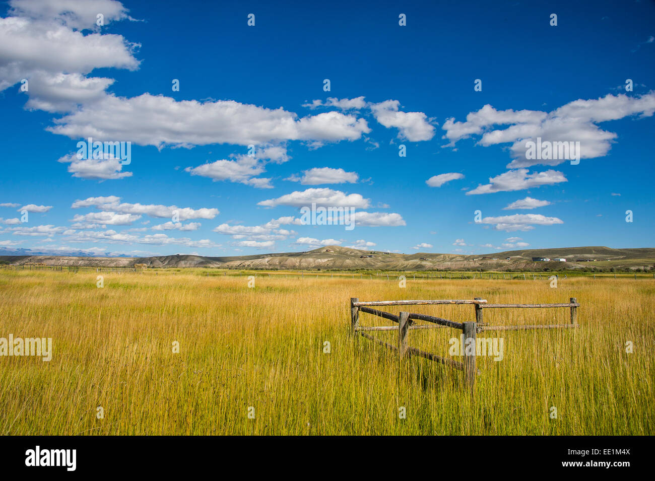 Low lying clouds in southern Wyoming, United States of America, North America - Stock Image