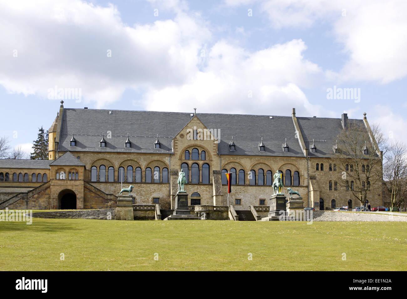 Altstadt, Architektur, Bauwerk, Bauwerke, Deutschland, Fassade, Fassaden, Gebaeude, Goslar, Kaiser, Kaiserpfalz, - Stock Image