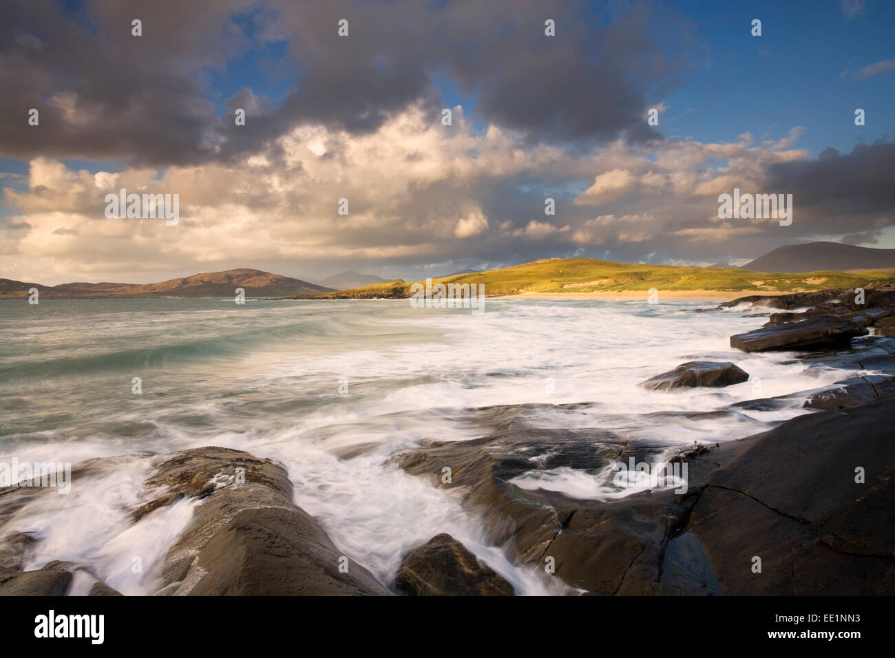 A view looking out across The Sound of Taransay, The Isle of Harris, Scotland. - Stock Image