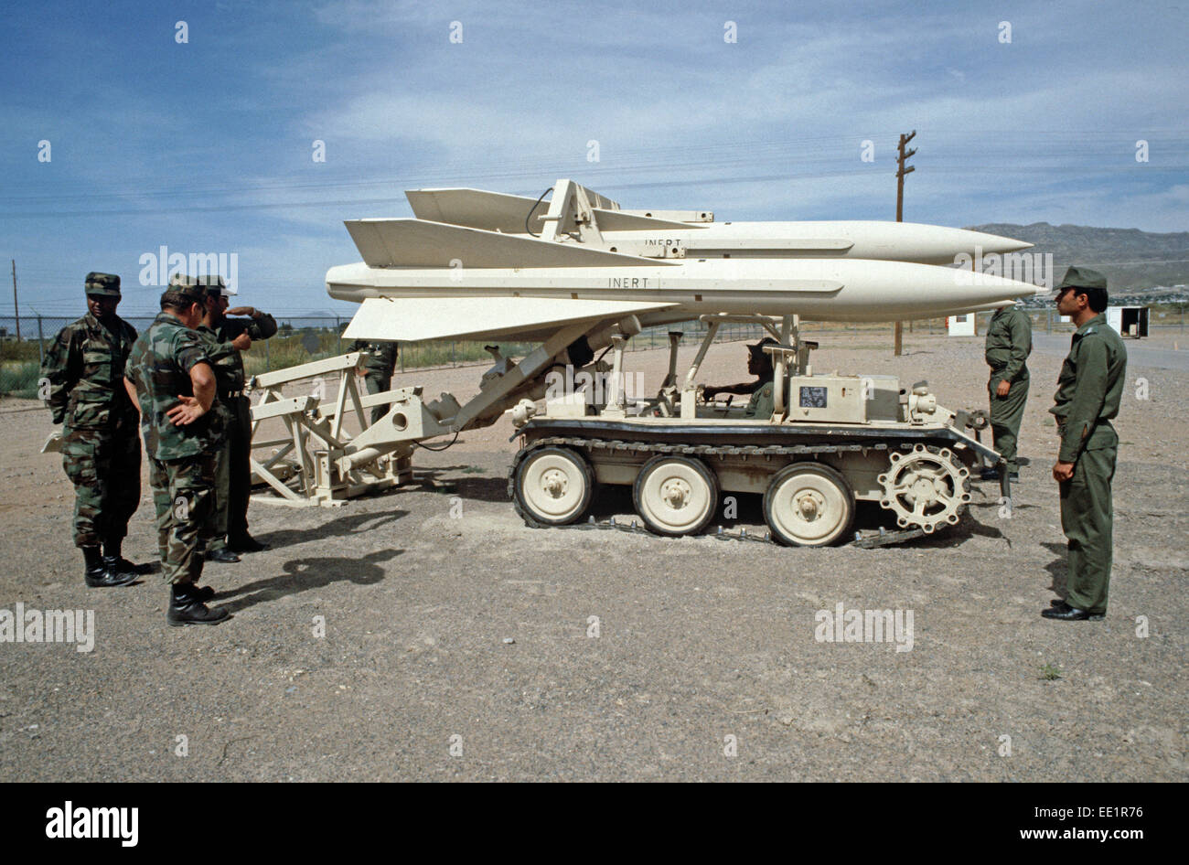 EGYPTIAN ARMY TRAINING ON HAWK MISSILES, McGREGOR RANGE, NEW MEXCO, UNITED STATES ARMY, USA - Stock Image