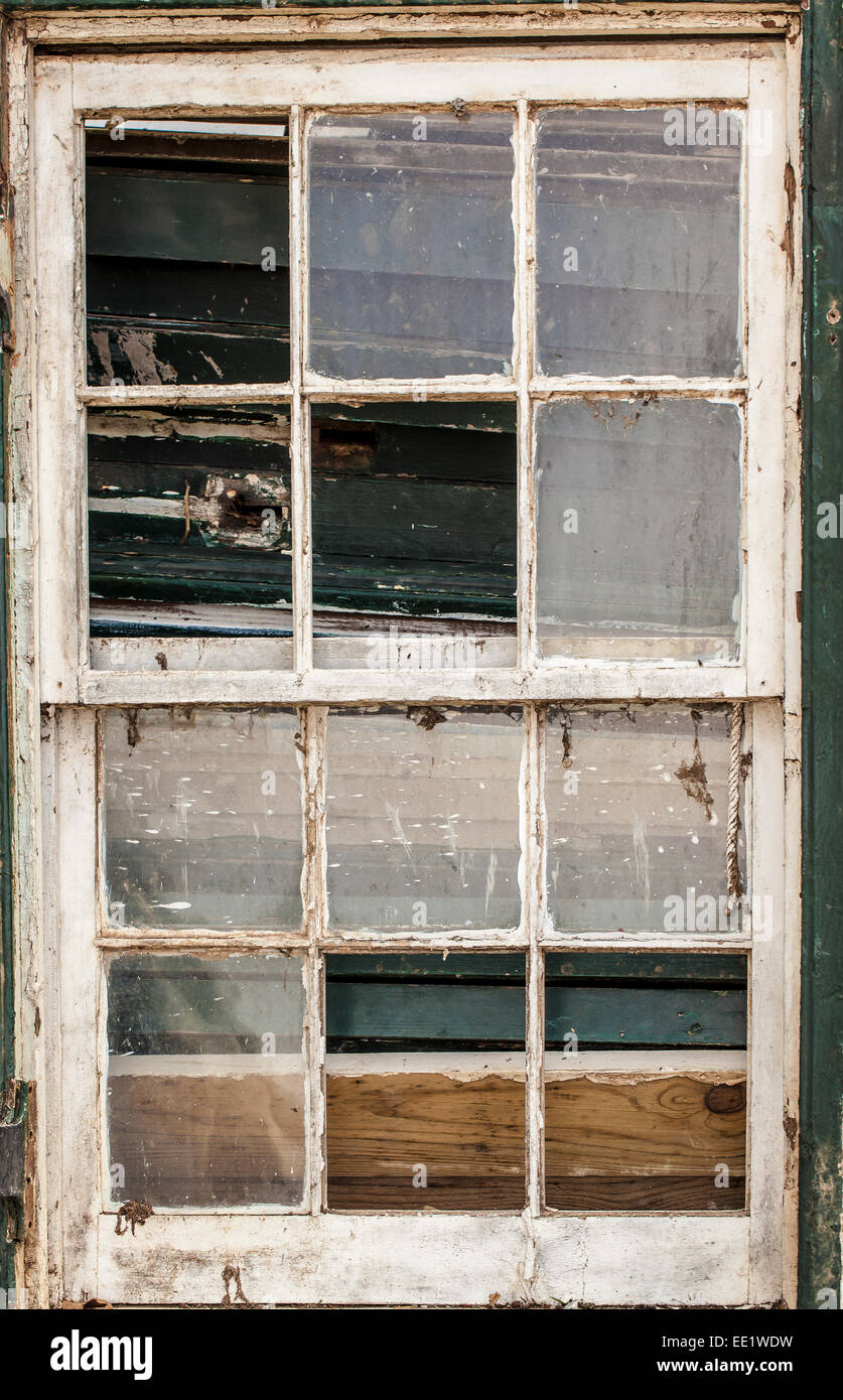 Image of a old vintage window frame with broken glass in a Stock ...