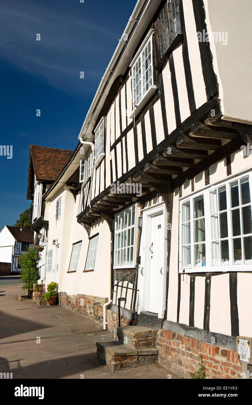 UK England, Suffolk, Lavenham, Church Street, timber framed properties - Stock Image