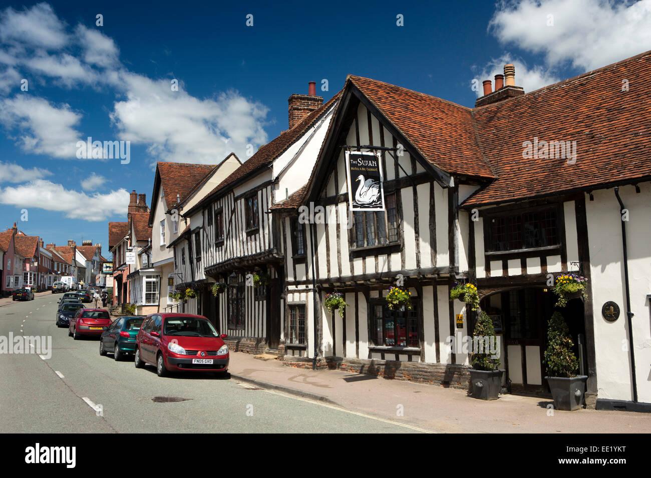 UK England, Suffolk, Lavenham, High Street, The Swan Hotel - Stock Image