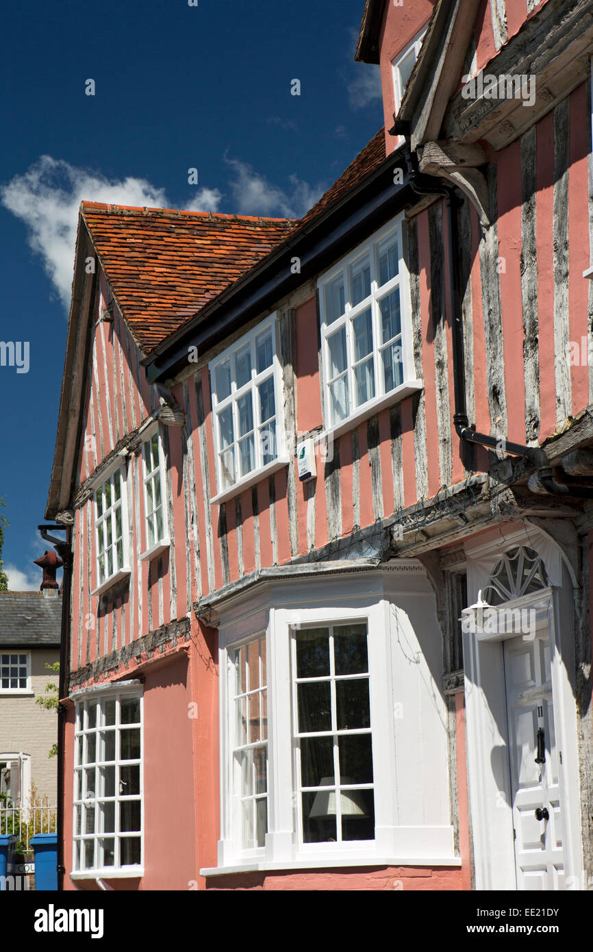 UK England, Suffolk, Lavenham, Barn Street, Old Grammar School, where Constable was pupil Stock Photo