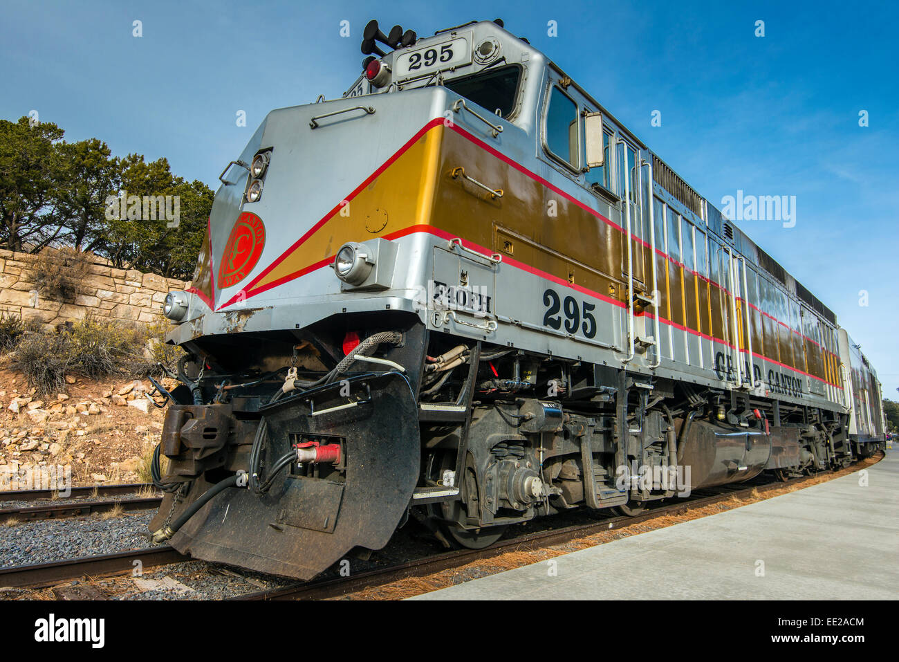 EMD F40PH diesel-electric locomotive, Grand Canyon Village, Arizona, USA - Stock Image