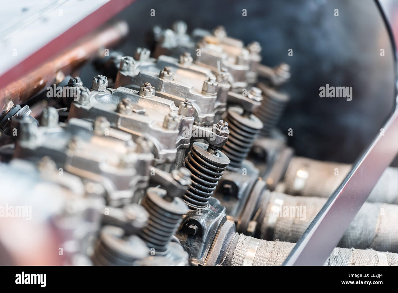 Old Car Internal Combustion Engine Pistons Close Up Stock Photo