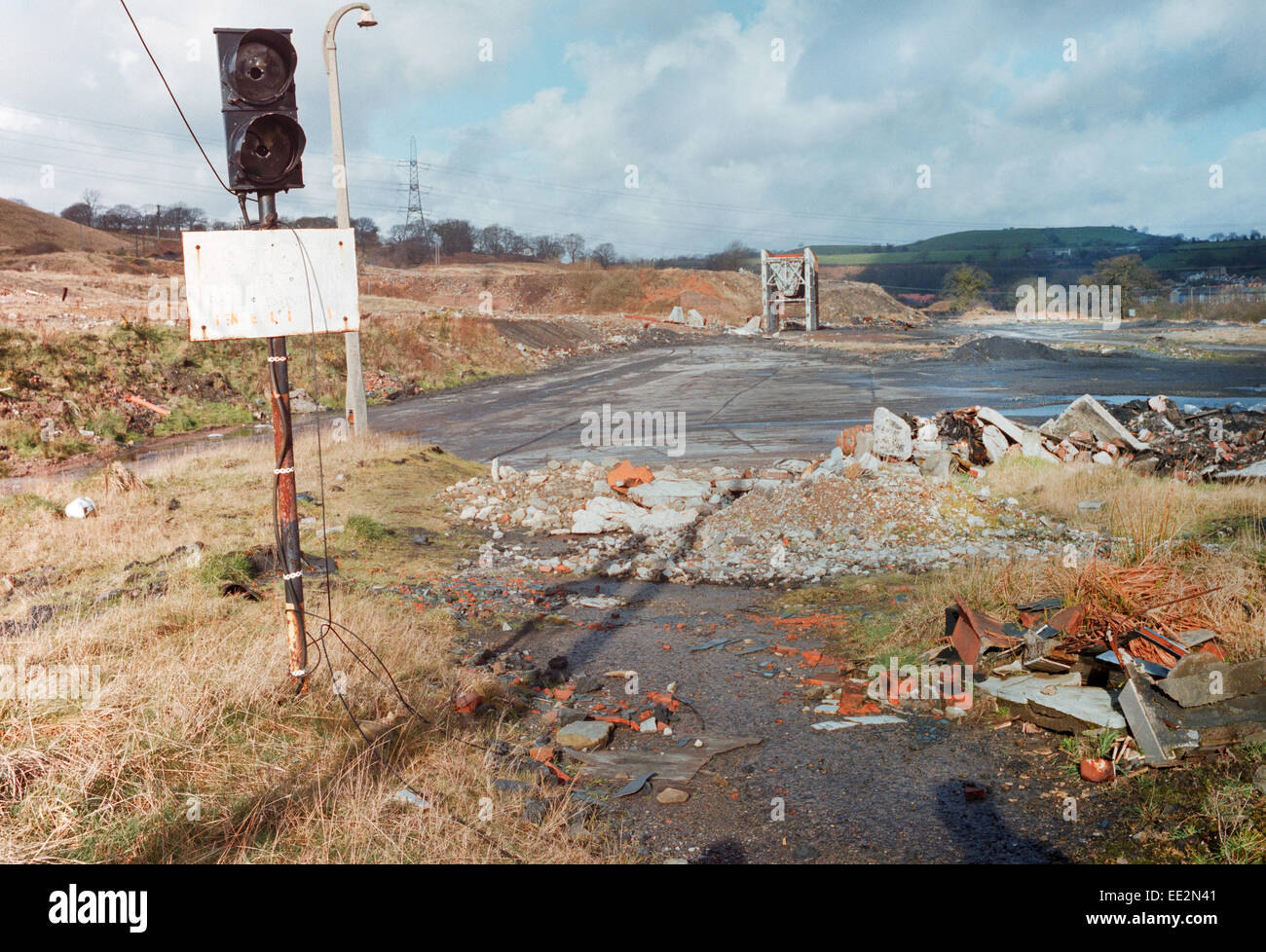 Site of Demolished Colliery - Stock Image